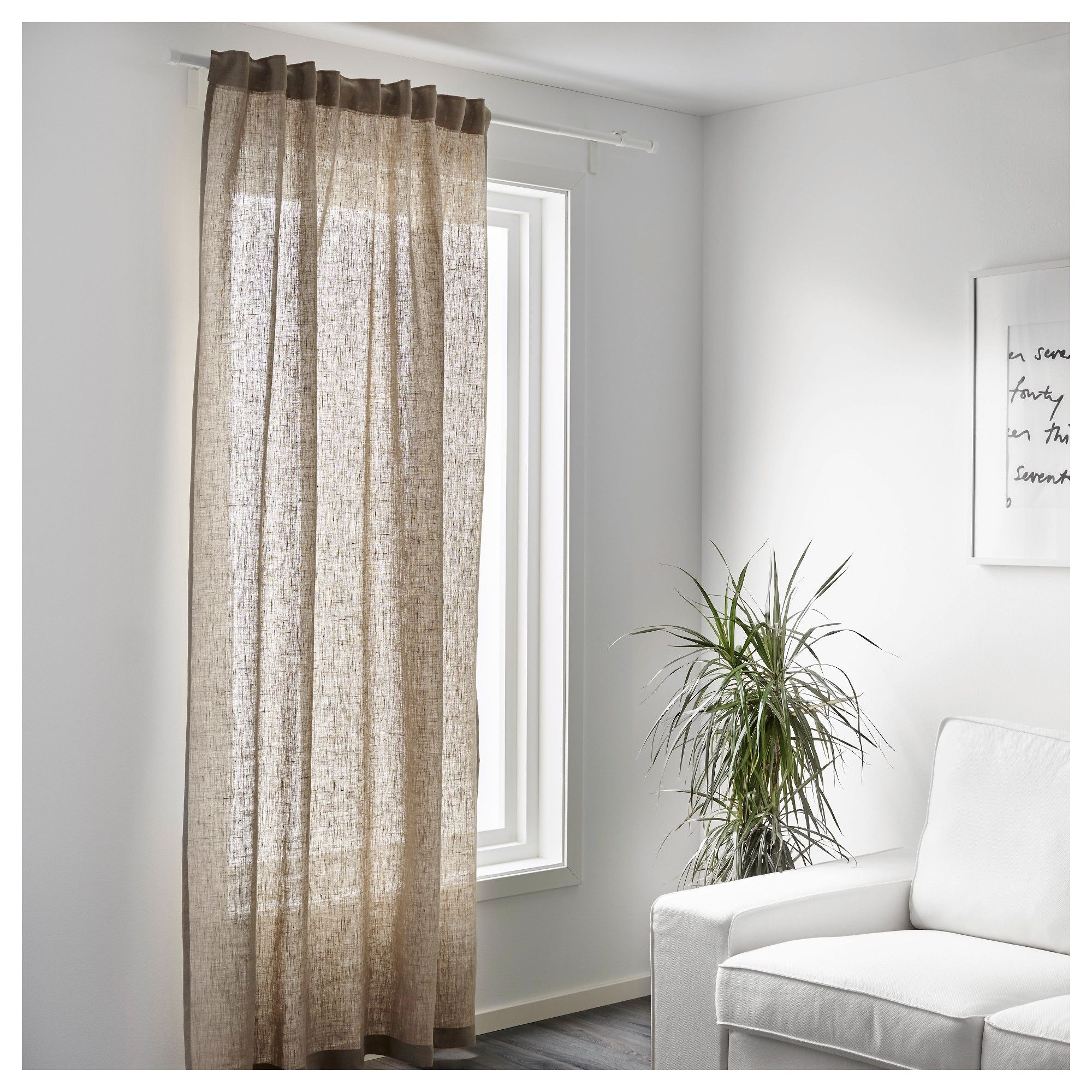 Aina Tessuto A Metraggio Color Naturale Linen Curtain And Linens