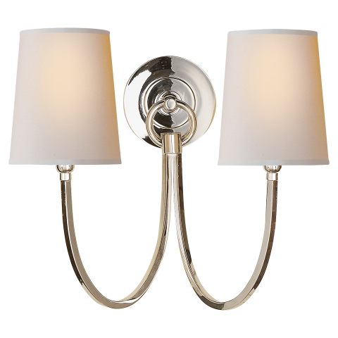 Reed Double Sconce Visual Comfort Lighting Sconces Wall Lights