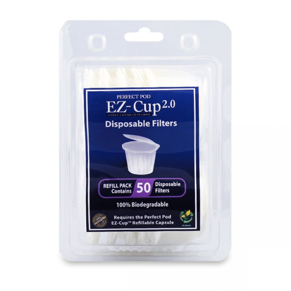 Perfect Pod EZCup 2.0 Disposable Paper Filters 50 Pack