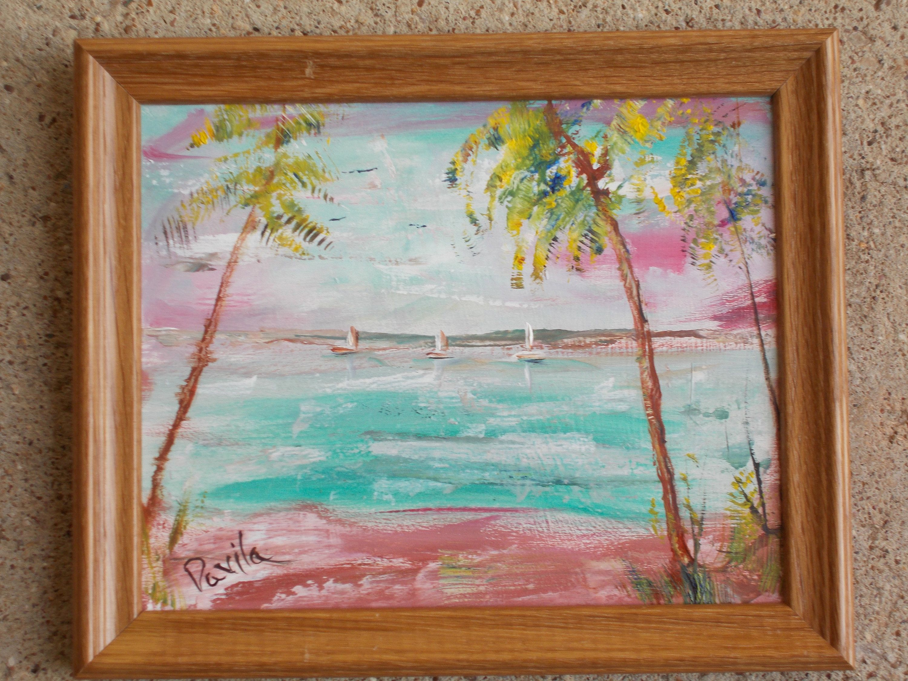 Original Dream weekend impressionistic oil painting hand painted by ...
