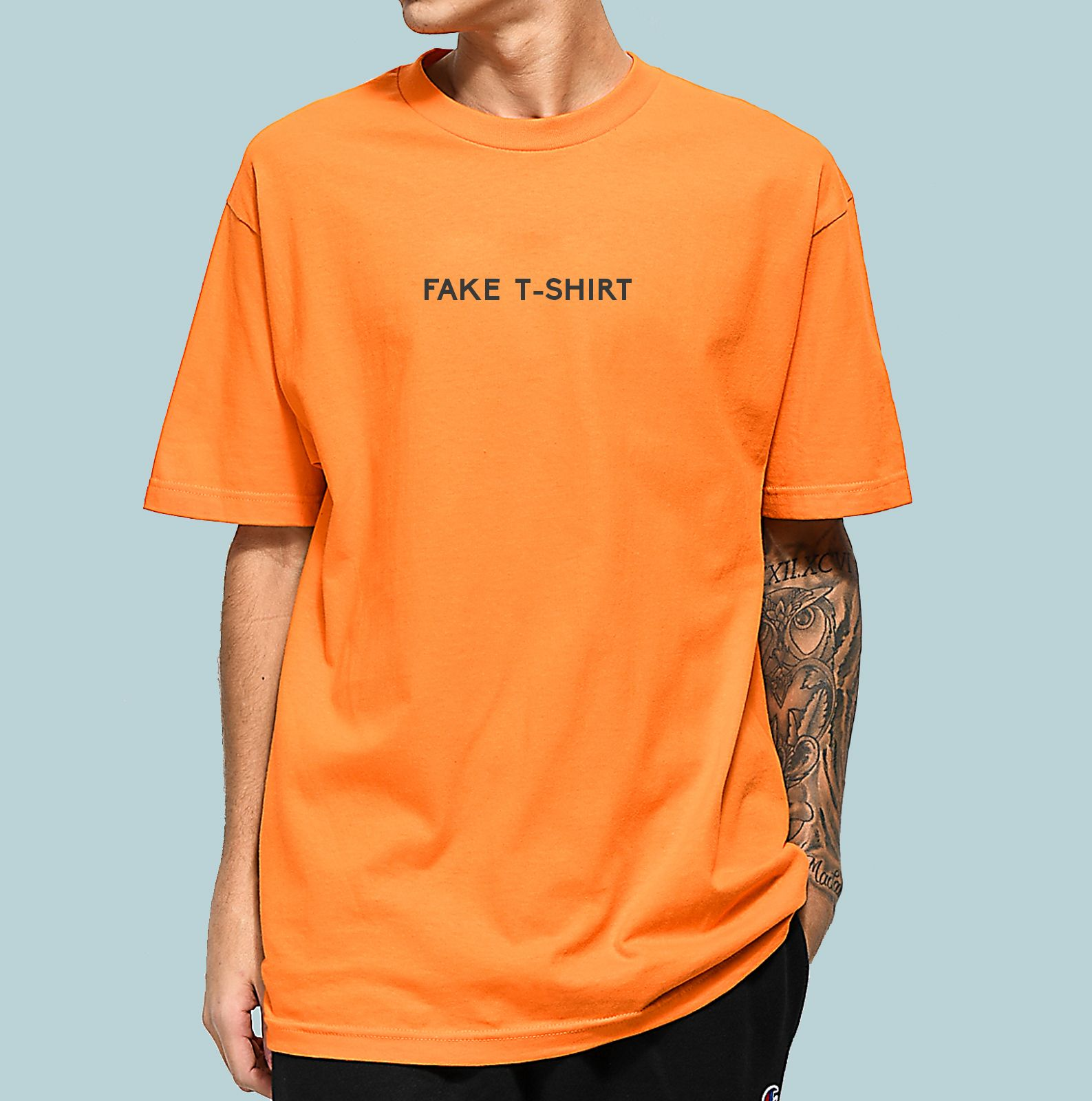 Camiseta Haze wear Fake T-SHIRT Laranja  street  streetwear  fashion   camiseta  moda 2c4cb0f8cd995
