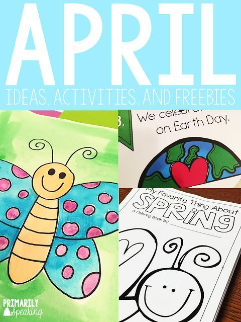 So many great ideas and activities for April.  Plus, several freebies throughout the post.  I love the class coloring book idea!