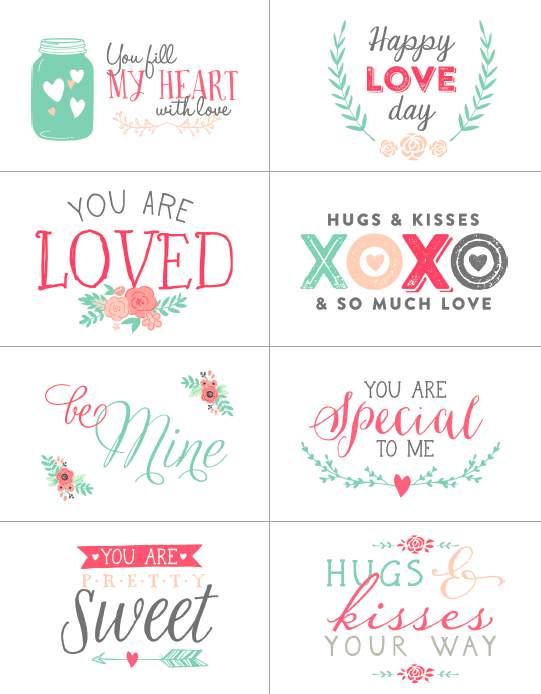 picture relating to Free Printable Valentines known as Cost-free Valentines working day labels section of a choice. Printable