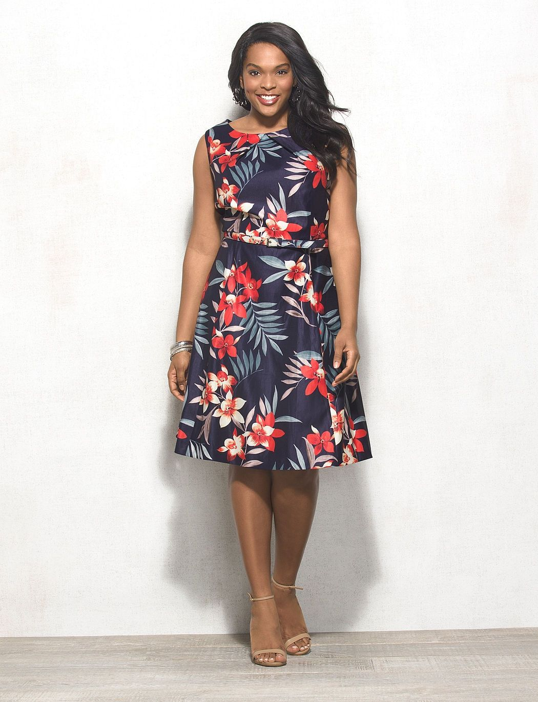 a042c146b5 Db Signature Plus Size Darby Floral Dress