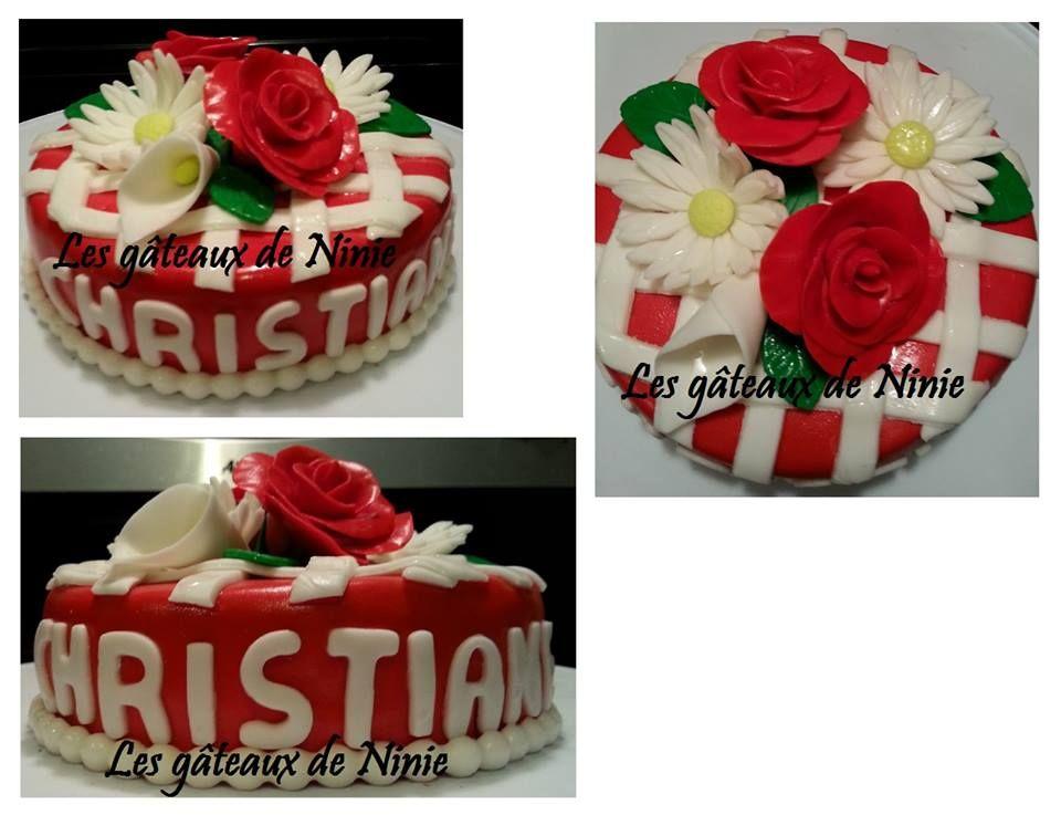 Gâteau fleurs et tissage