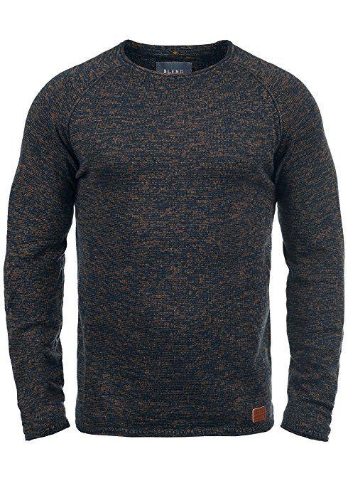 a2804164a975 Blend 20700587ME Mens Crew Neck Wool Sweater - blue, size  50  Amazon.de   Bekleidung   M   Pinterest   Bekleidung und 50er