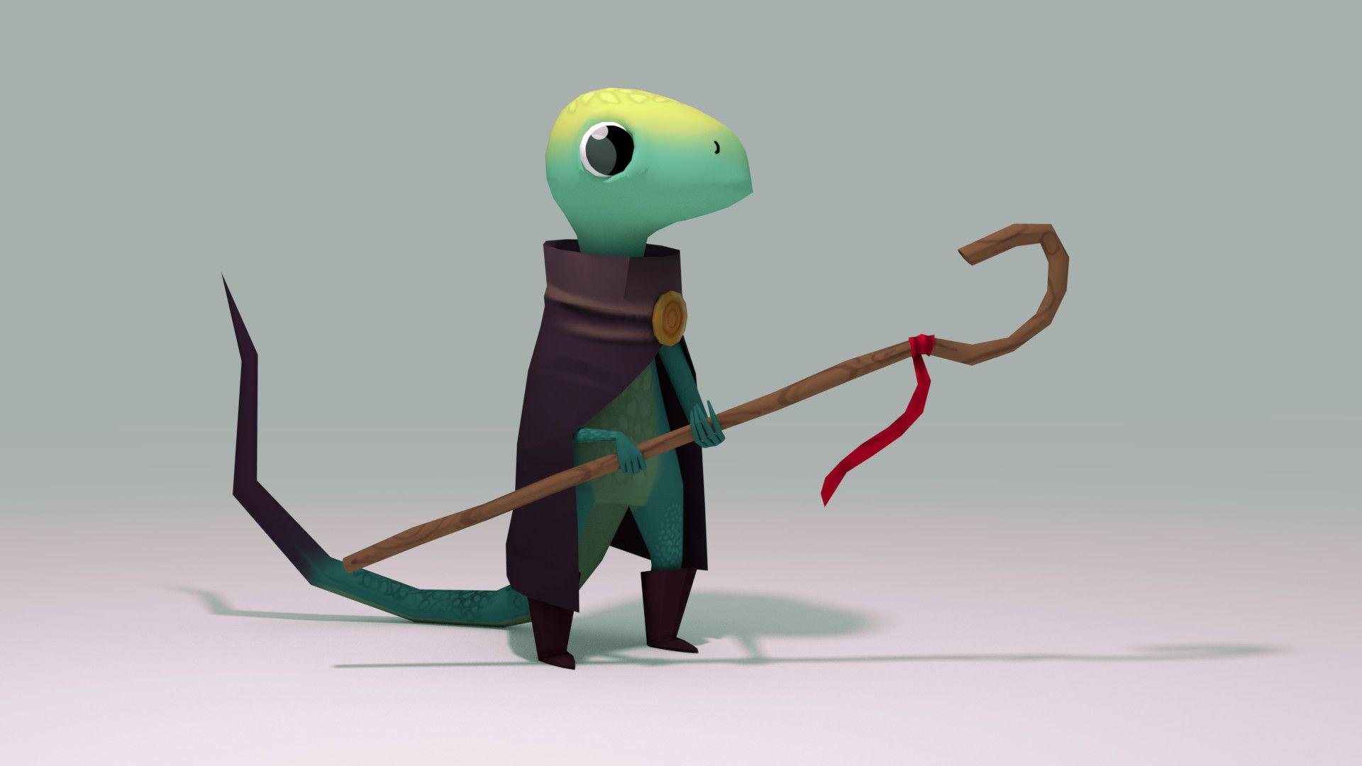Fantasy Lizard Art Cute