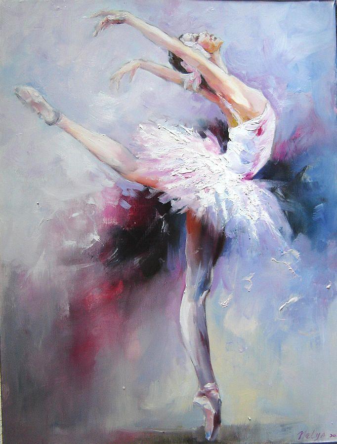 Nelya Shenklyarska Swan Lake 1 Painted Ladies Balerin Cizim Soyut Resimler