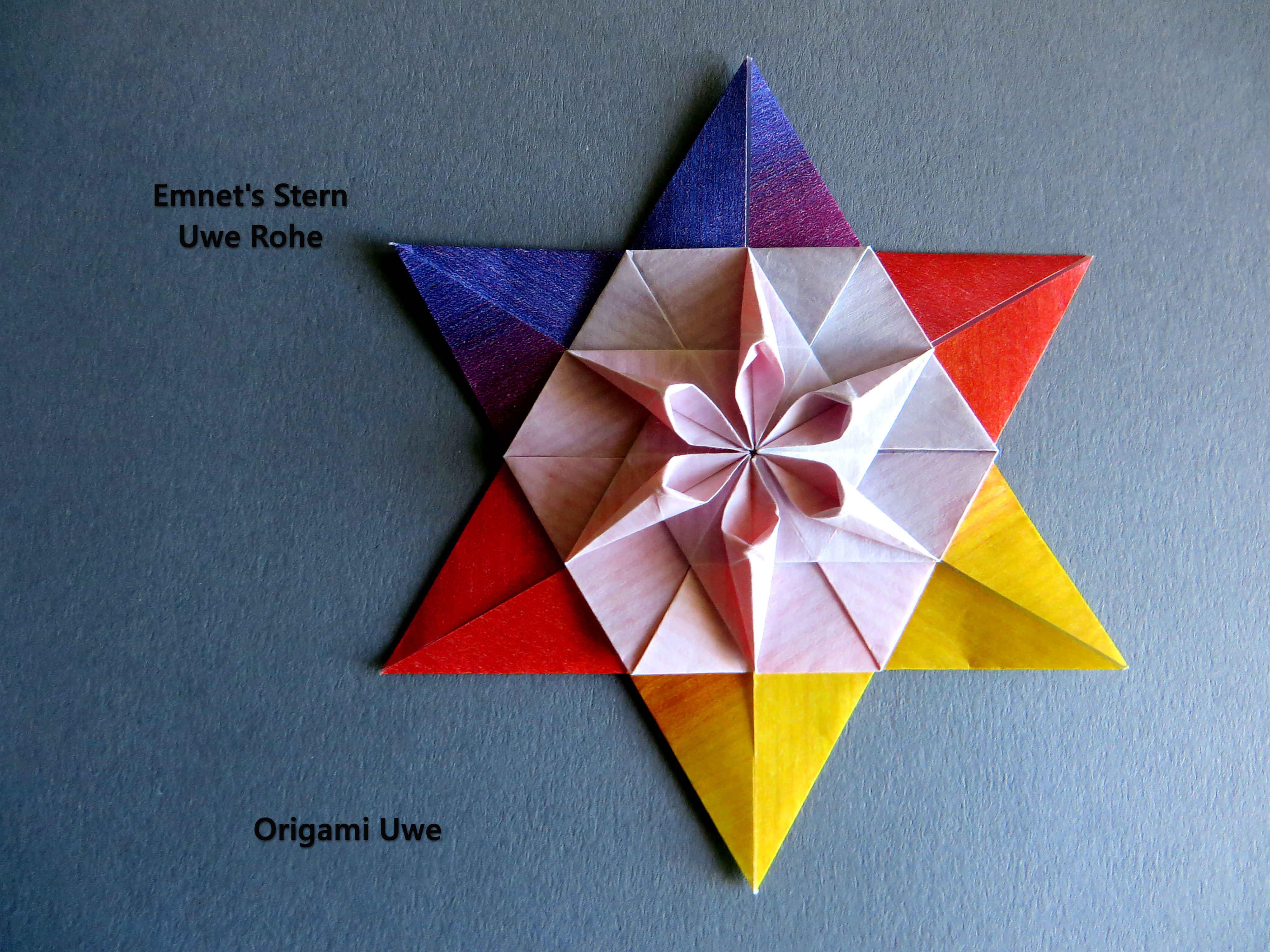 Pin by uwe rohe on origami pinterest origami origami art and origami art paper folding paper design stars mandalas origami jeuxipadfo Images