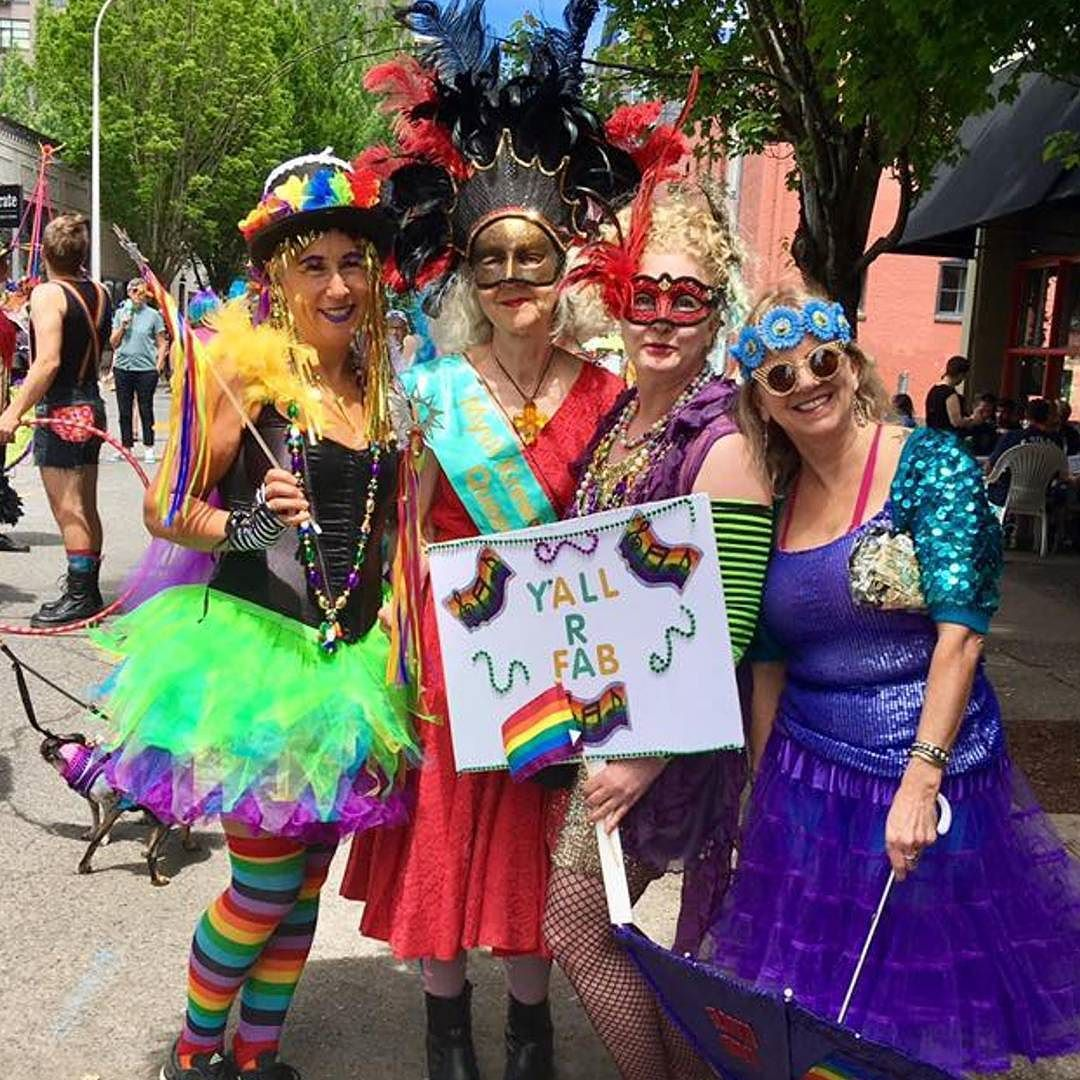 Portland  sc 1 st  Pinterest & So much color at @nwpride ! Mysti Krewe of Nimbus supports all yu0027all ...