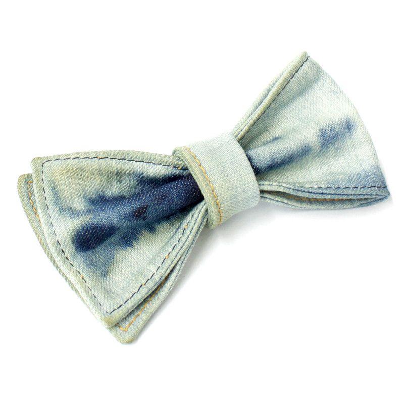 Japanese Kaihara Dip Dyed Bow Tie, 9oz