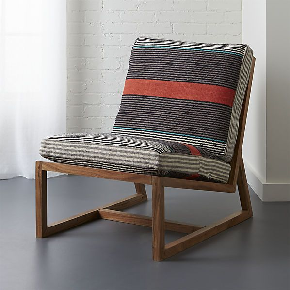 Ordinaire Sidi Lounge Chair | CB2 R: This Style Of Chair Is Sometimes Found Vintage,  Reupholstery Is Not Bad Since The Frame And Back Are Wood