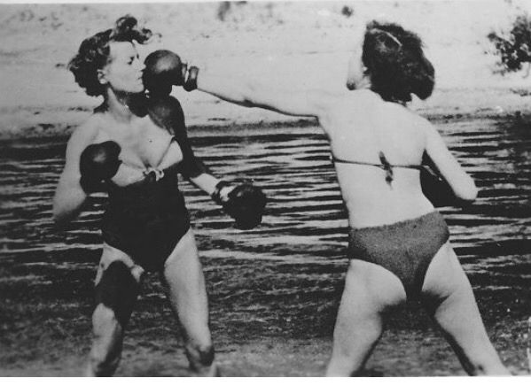 "broaddiscernment: ""New visual interest: Women boxing """