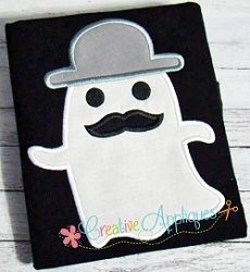 Ghost Mustache Applique - 4 Sizes! | What's New | Machine Embroidery Designs | SWAKembroidery.com Creative Appliques