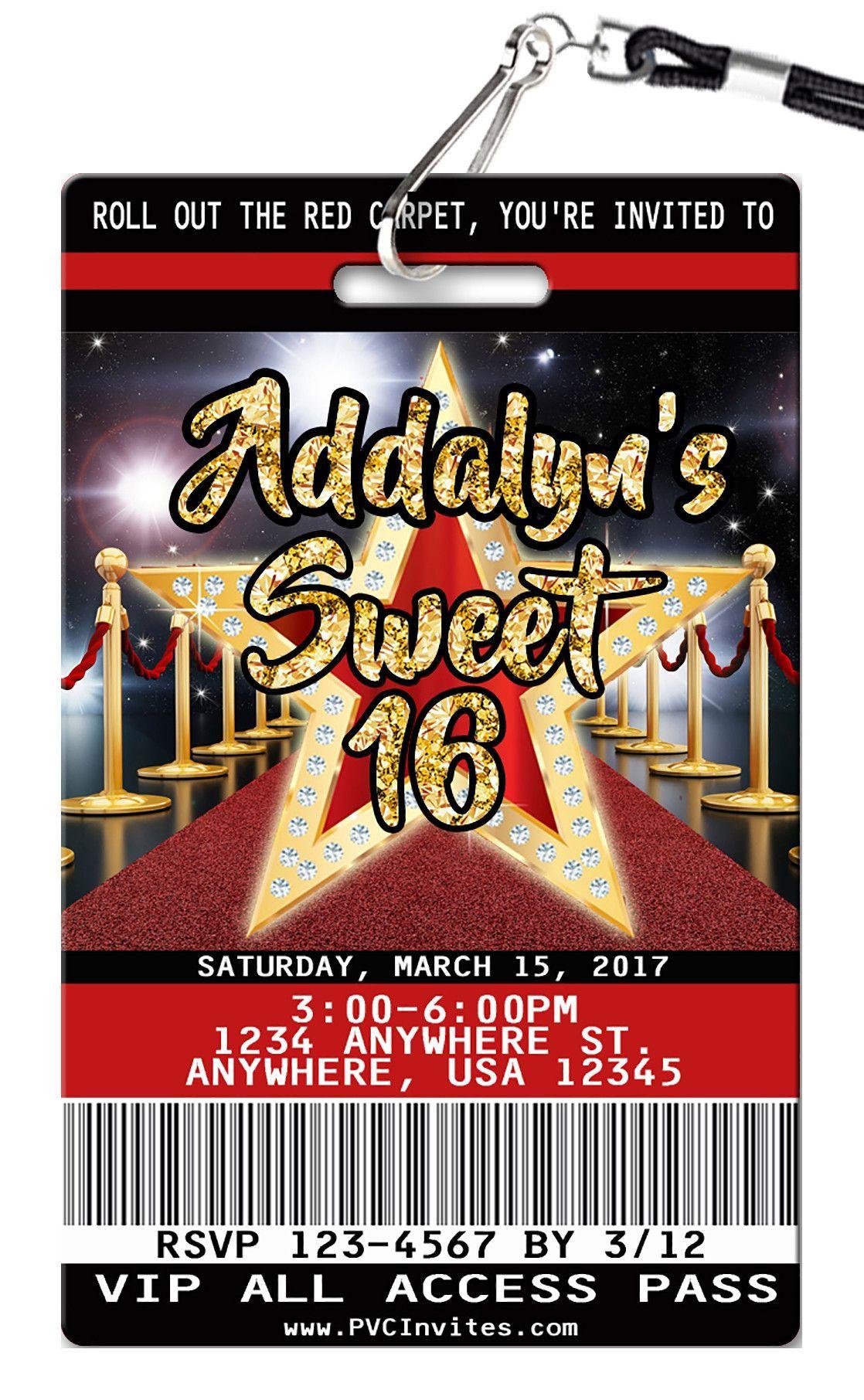 Sweet 16 Birthday Invitation Sweet 16 party themes