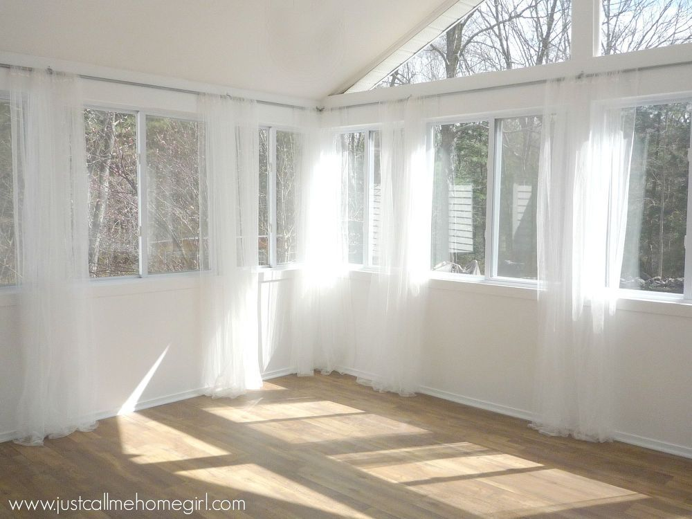Inexpensive Way To Hang Curtains Sunroom Curtains Sunroom