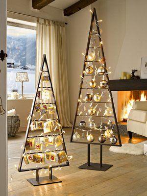 metallbaum lichterkette wir weihnachten christmas. Black Bedroom Furniture Sets. Home Design Ideas