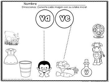 SILABAS INICIALES - LETRA J, LETRA R, LETRA V, LETRA F, Spanish Beginning Sounds, beginning syllables - FREE, GRATIS