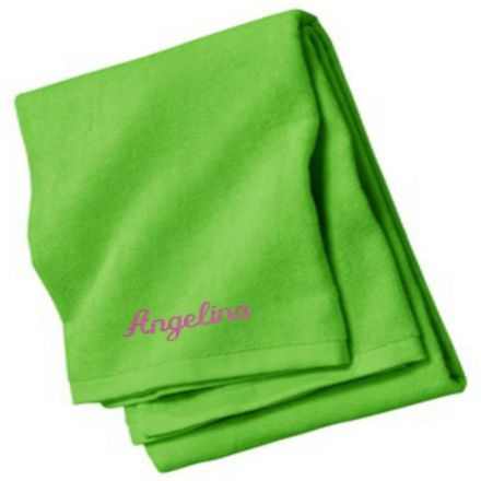http://www.cre8ivgifts.com/Personalized_Beach_Towel.html - $25.00 at cre8ivgifts.com