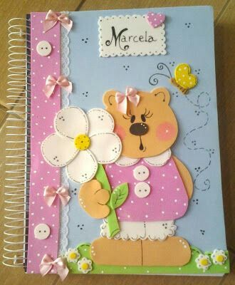 M s y m s manualidades muchas ideas para forrar cuadernos for Modelos de carteleras informativas