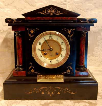 Antique Mantel Clock Victorian Slate Clocks Carriage Clocks
