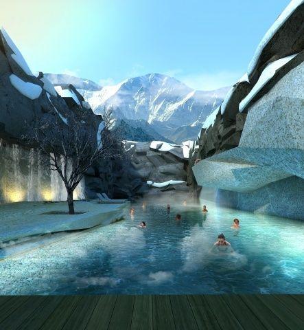 mountain spa swimming pool or kind of pinterest. Black Bedroom Furniture Sets. Home Design Ideas