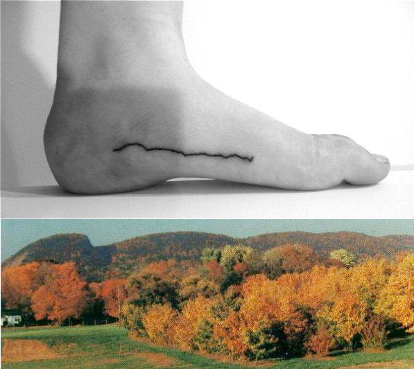 This tattoo is based on sleeping giant a mountain in ct for Tattoo places in ct