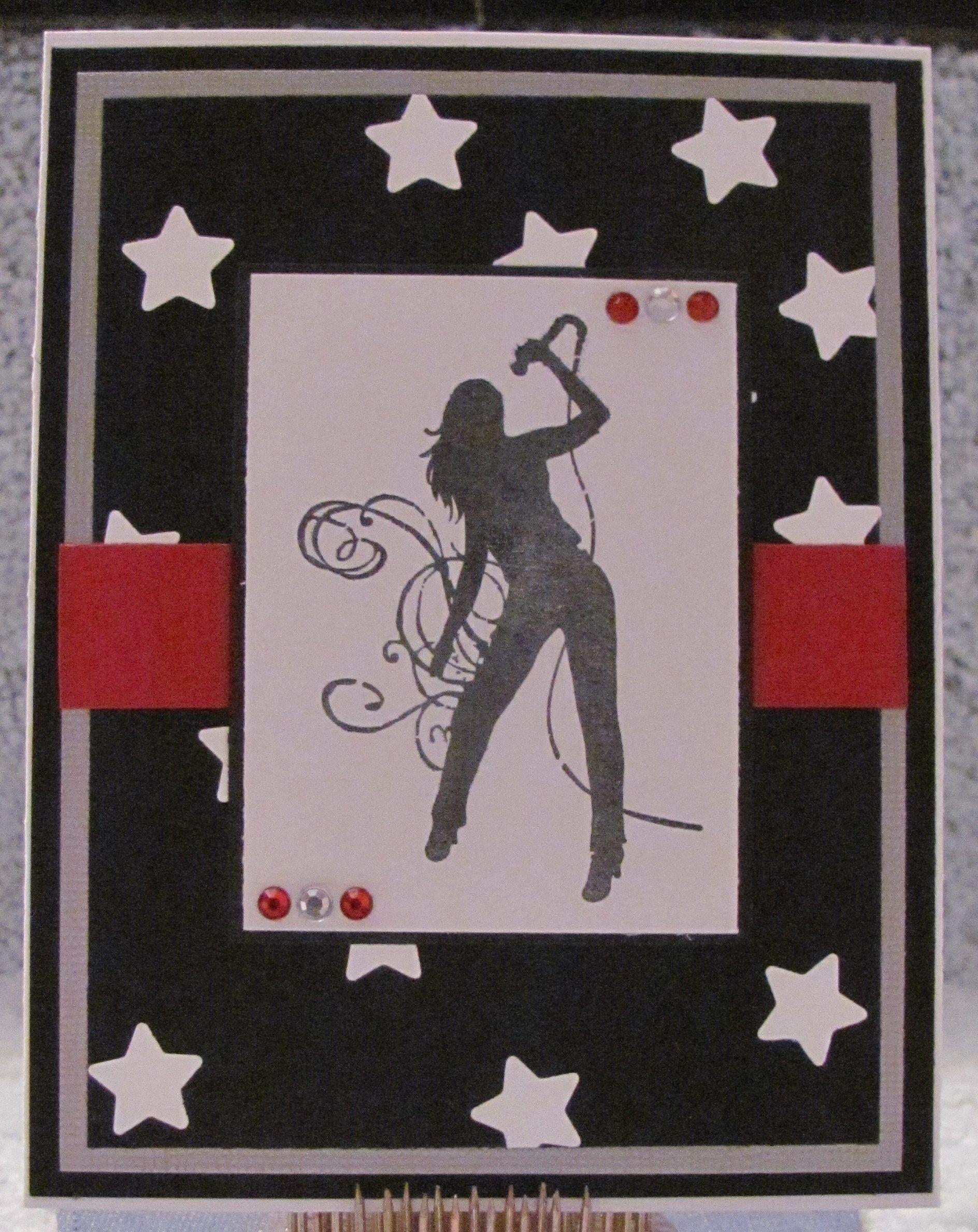 Rockstar Wannabe A2 Blank Handmade Fun Music Greeting Card By The