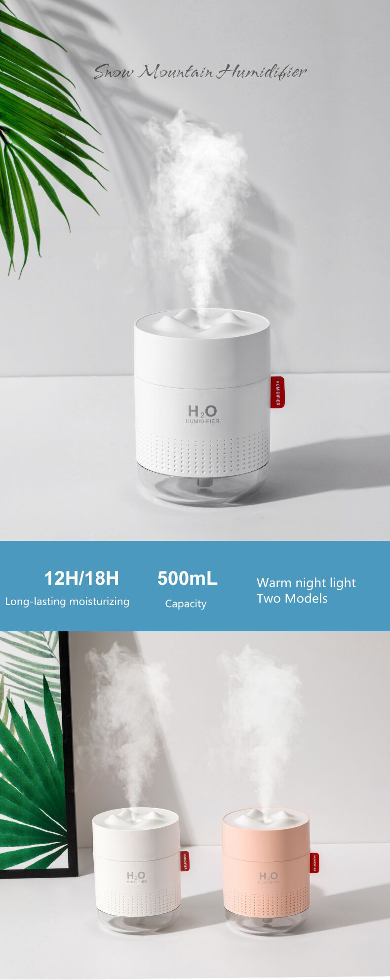 USB Air Humidifier Romantic Lamp with filter in 2020