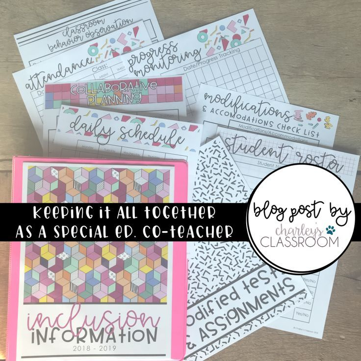 Staying Organized as a Special Education Co-Teacher