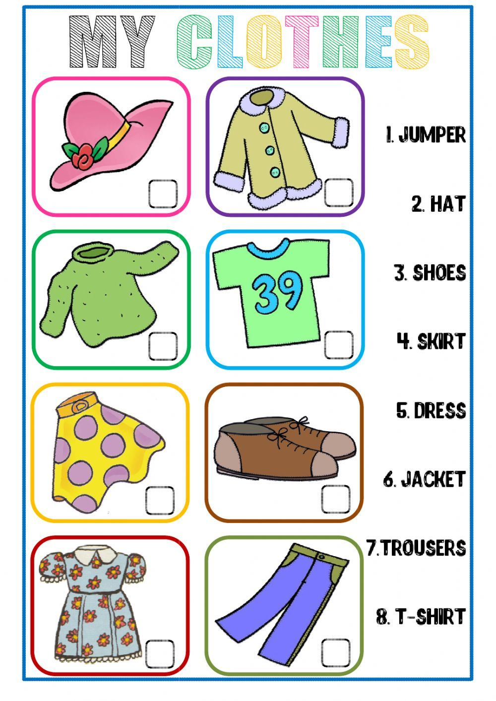 Walking through the jungle worksheet free esl printable worksheets - The Clothes Interactive And Downloadable Worksheet Check Your Answers Online Or Send Them To Your Your Teachersecond Languageeslworksheets