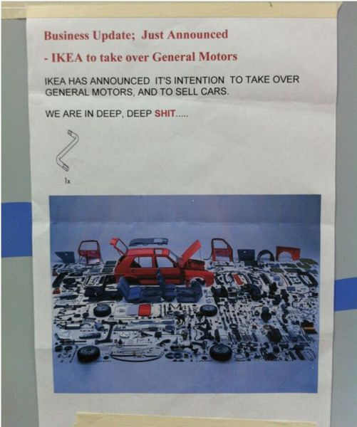 Ikea to take over General Motors