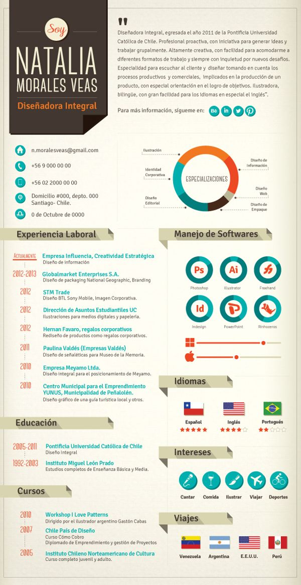 great resume design by natalia morales  via behance  aaron sheppard and look at my  u0026quot