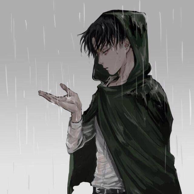 Levi Standing In The Rain Snk Anime Attack On Titan Capitao Levi