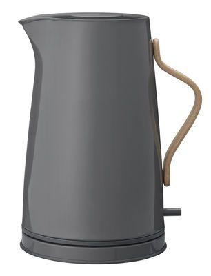 Wasserkocher Emma Von Stelton Grau Holz Natur Electric Kettle