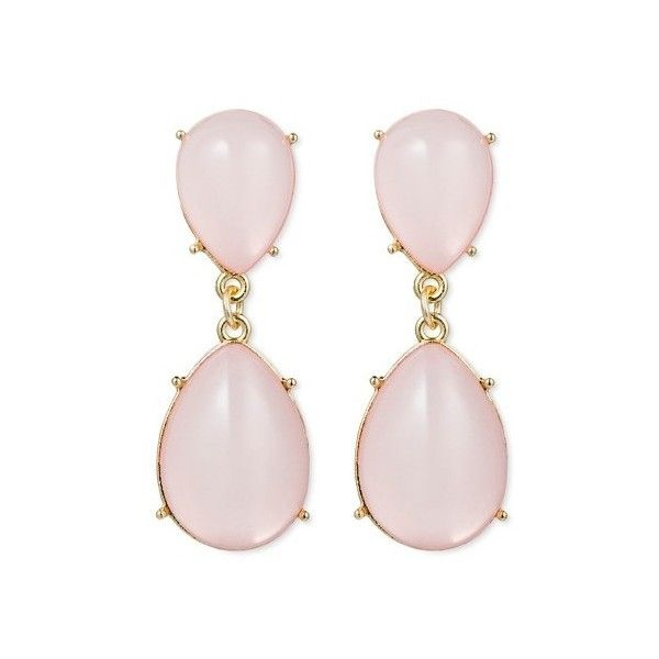 Sugarfix by Baublebar Opalescent Drop Earrings ($9.99) ❤ liked on Polyvore featuring jewelry, earrings, lightweight earrings, post back earrings, post earrings, polish jewelry and pink earrings