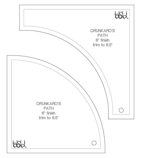 Drunkards path template   Quilts   Pinterest   Paths, Template and ...