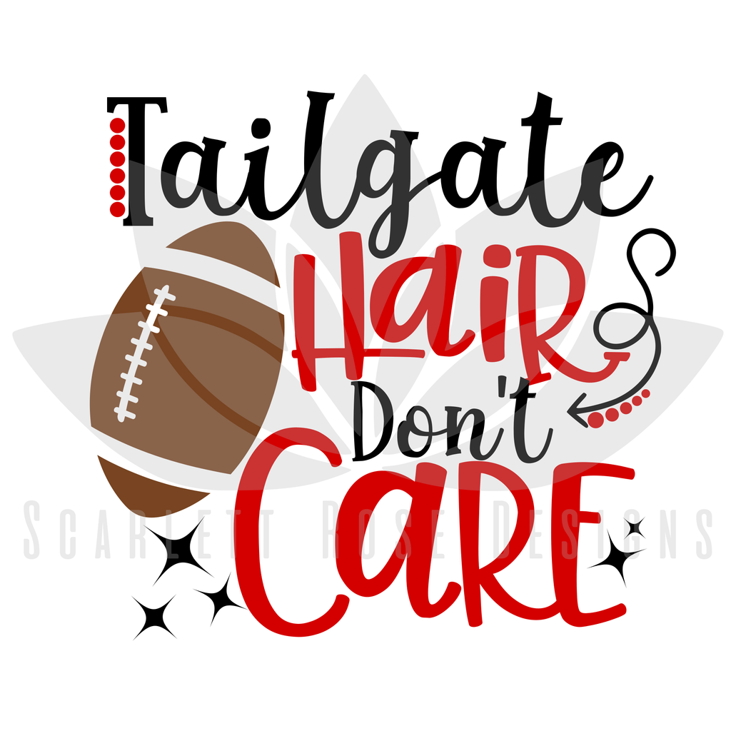 football svg tailgate hair don't