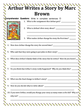 Marc Brown Reading Activities Unit | Reading: General | Reading ...