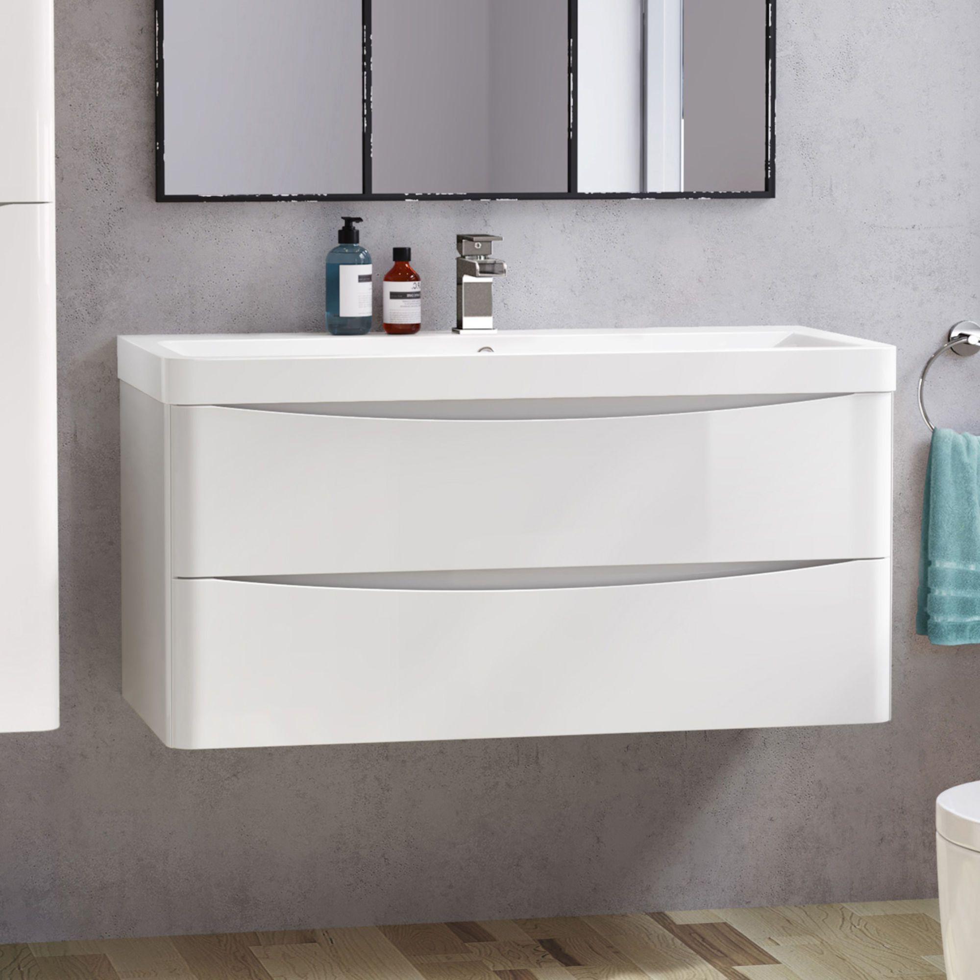 Austin Vanity Unit 1000mm Bathroom Vanity Units Sink Vanity Unit Wall Hung Vanity