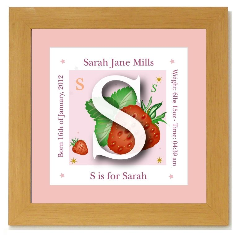 Personalised alphabet baby name frame initial girl 2499 personalised alphabet baby name frame initial girl 2499 negle Image collections