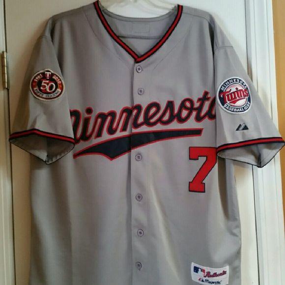 18353d512 Joe Mauer  7 Minnesota Twins Alt. Away Jersey EUC - MLB - Alternate Gray