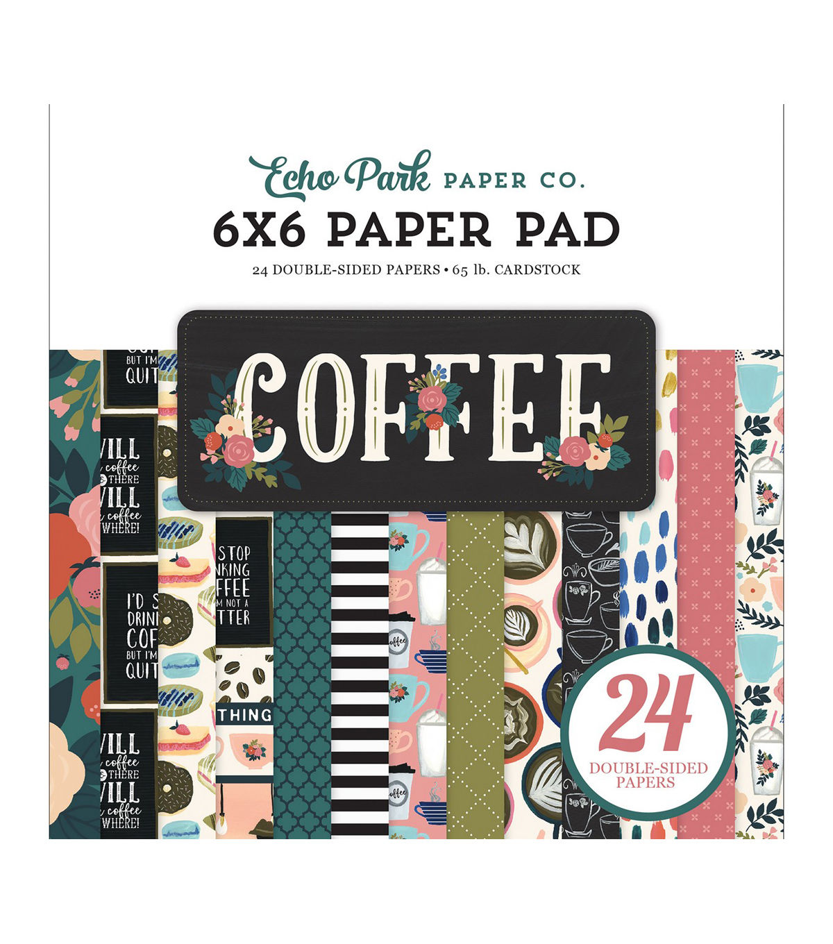 ECHO PARK PAPER COMPANY PAPER 6X6 PAD 12 Designs//2 Each I Love My Dog