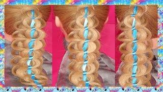 Subscriptions - YouTube   Cute ponytails, Ribbon hairstyle, Chain braid