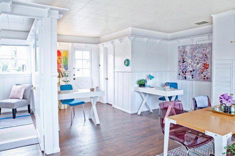Soubassement boiserie murale pour personnaliser les murs et leur beauté - peinture blanche pour mur