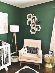 A Green Nursery With Modern Black And White Accents Green Boys