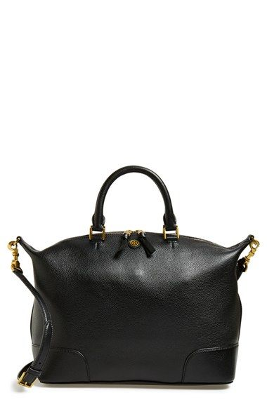 2e88cb129683 Free shipping and returns on Tory Burch  Frances  Slouchy Leather Satchel  at Nordstrom.com. Contrast-painted edges accentuate the relaxed silhouette  of a ...
