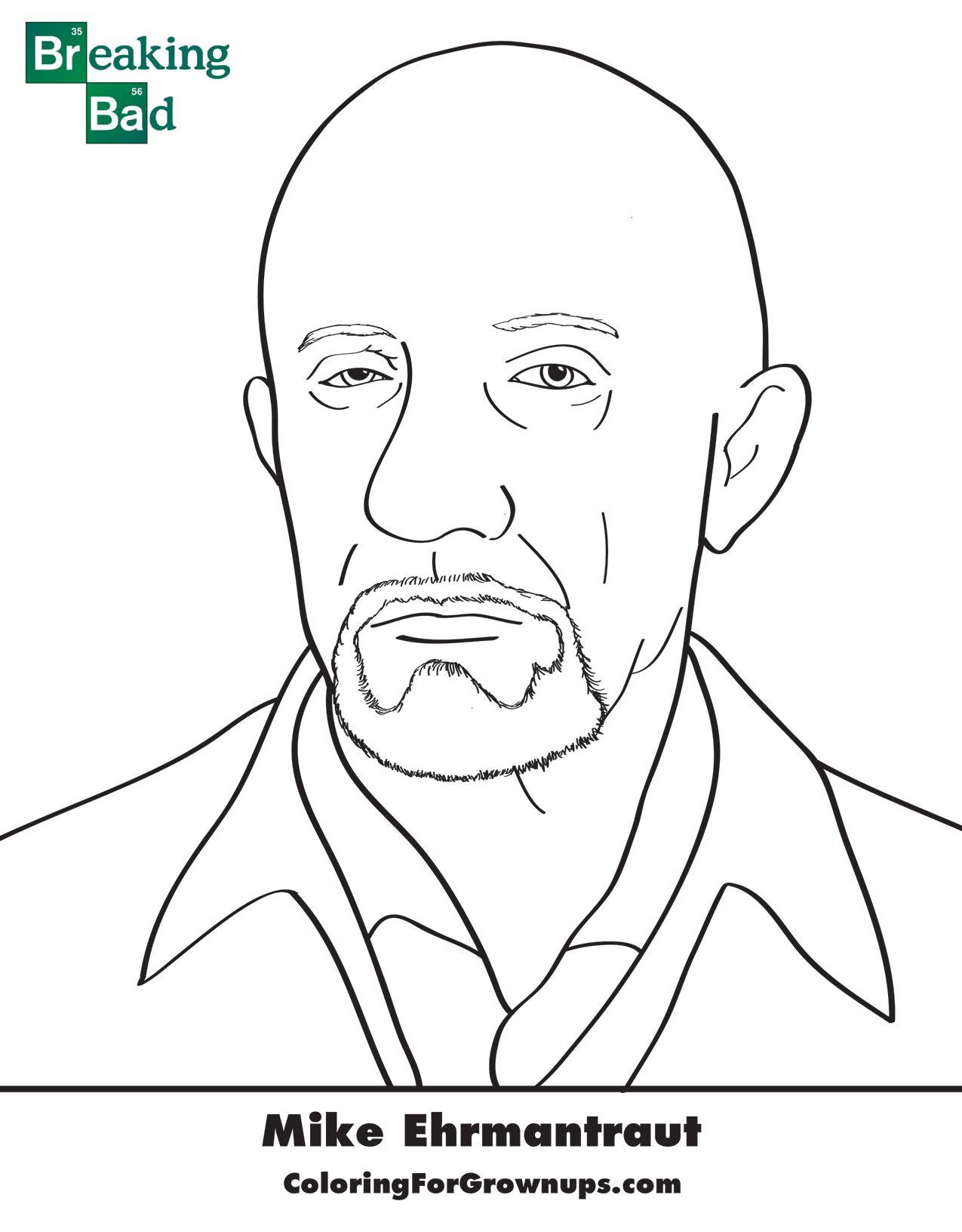 Breaking Bad Coloring Page (Coloringforgrownups.com