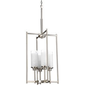 progress lighting alexa 4 light brushed nickel chandelier