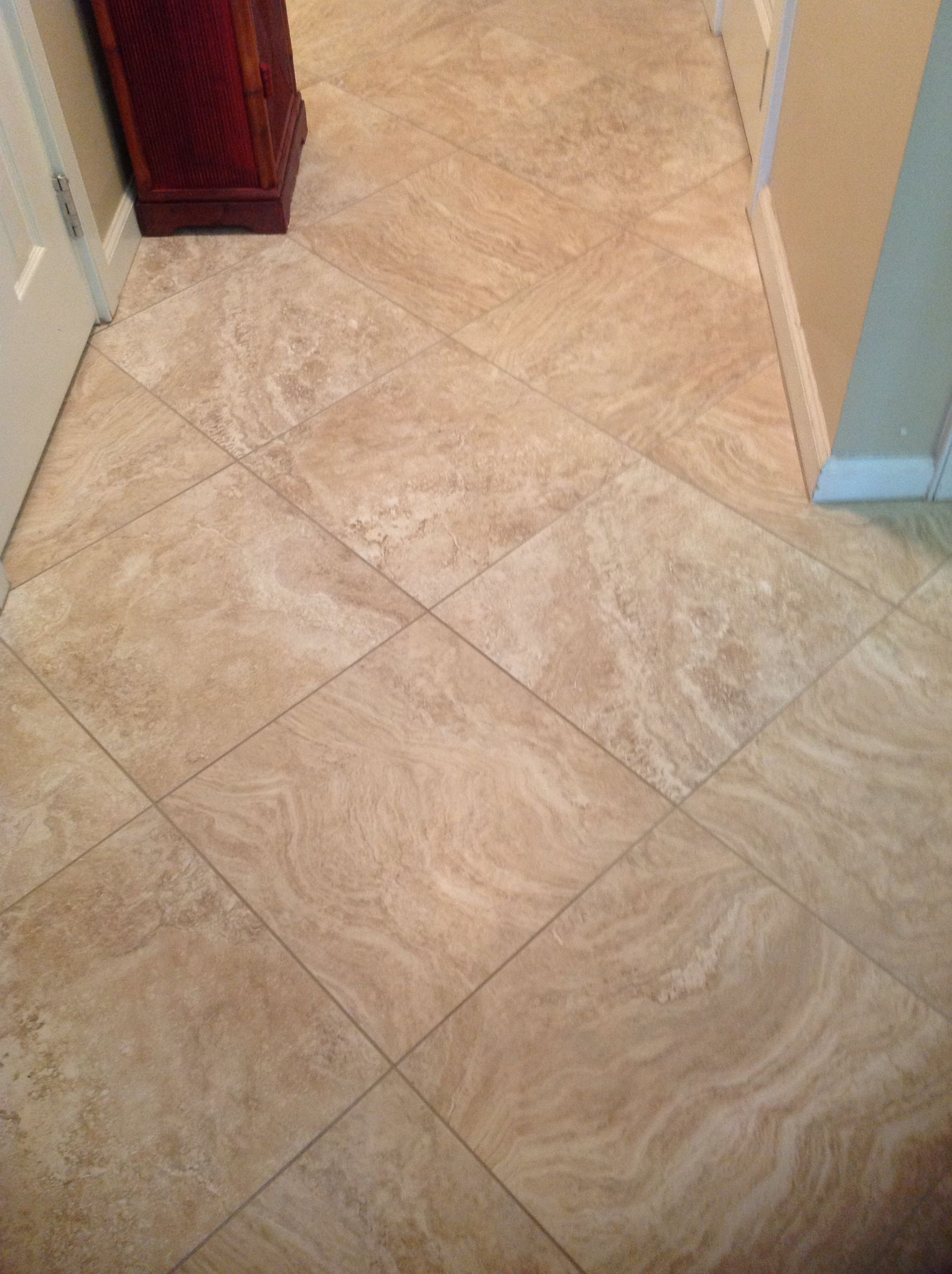 Keystone Fire 18 X 18 Diagonal Tile Projects Tile Floor Flooring
